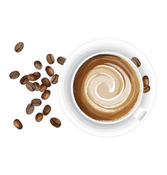 realistic coffee cup on vector image