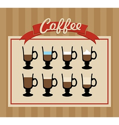 Retro coffee cups set poster vector image