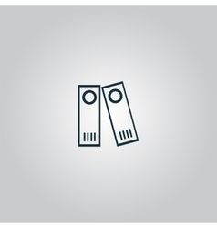 Row of binders icon vector image