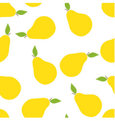 seamless pattern of pears vector image