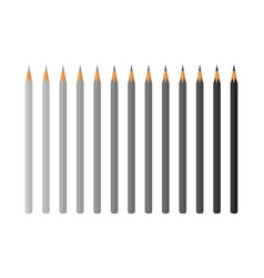 set color pencils isolated vector image