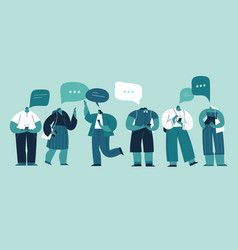 social network and virtual communication concept vector image