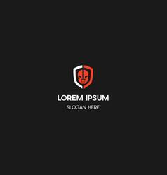 spartan guard creative logo design vector image