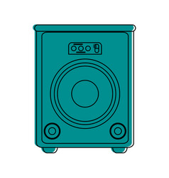 Stage speaker icon image vector