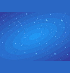 stars on dark blue cosmic backdrop flat funny vector image