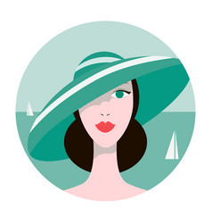 stylish beautiful model for fashion design art vector image