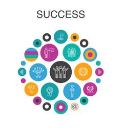 success infographic circle concept smart ui vector image