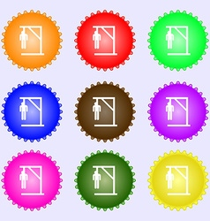 Suicide concept icon sign Big set of colorful vector