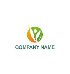 vegetarian abstract company logo vector image