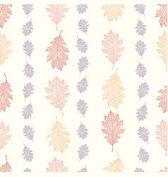 vintage pattern from the leaves of red oak vector image