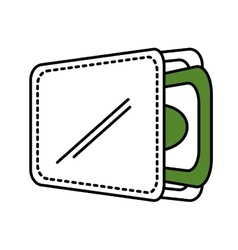 Wallet with money isolate icon vector
