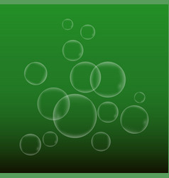 Water babble on green background vector
