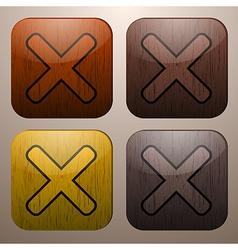 Wooden cross marks vector
