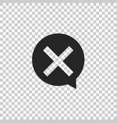 x mark cross in circle icon check cross mark vector image