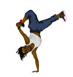 young man dancing vector image