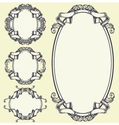 Ribbon frame and border ornaments set 05 vector image vector image