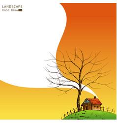 stylized landscape vector image vector image
