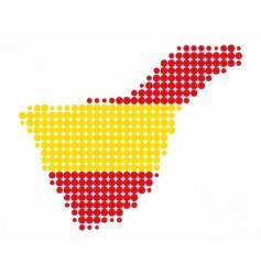Tenerife map vector image
