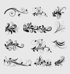 Vintage Olive Design Elements vector image vector image