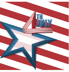 4th of july star background vector image vector image