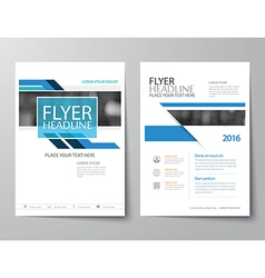 blue annual report brochure flyer flat design vector image