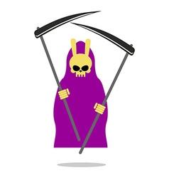 Bunny death purple cloak and Scythe Grim Reaper vector image
