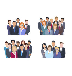 Business team group portrait collection vector