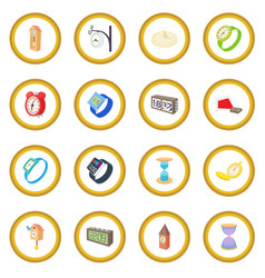 clock and watch icon circle vector image vector image