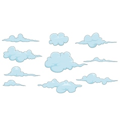 collection of cloud for you design vector image vector image