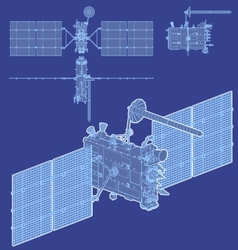 hidetailed gps satellite vector image vector image