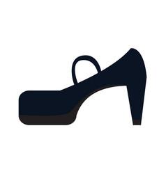 isolated high heel shoe vector image