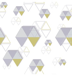 background of hexagon and triangle vector image