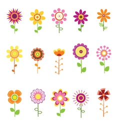 Retro Flowers vector image