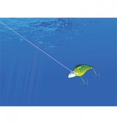 underwater lure vector image vector image