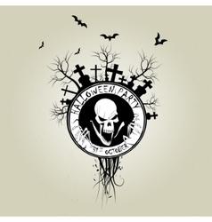 Zombie emblem vector image