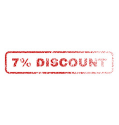 7 percent discount rubber stamp vector image