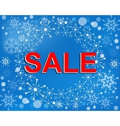 Big winter sale poster with SALE text Advertising vector image vector image