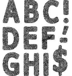 Fingerprint abc vector