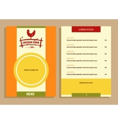 logo Hand drawn hen Menu for home vector image vector image