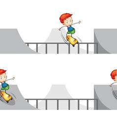 Skateboarding boy vector image