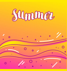 summer on sandy beach stylized of vector image vector image