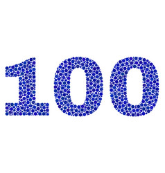 100 text in dot style vector