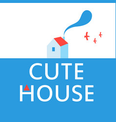 a cute house advertisement poster vector image