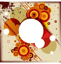 Abstract background with some circles different vector image