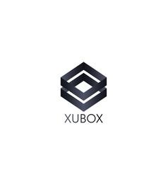 Abstract box cube logo icon template blockchain vector