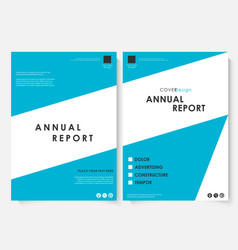 Annual report cover design template vector