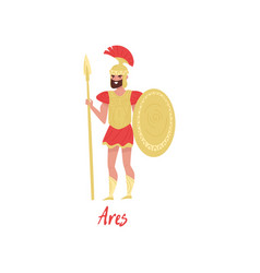 Ares olympian greek god ancient greece myths vector
