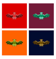 Assembly flat cute bat vector