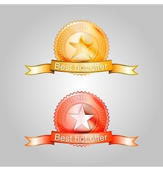 badges for the best offer vector image