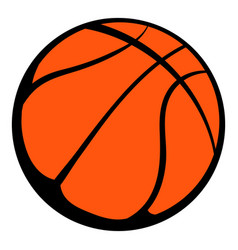 basketball ball icon icon cartoon vector image